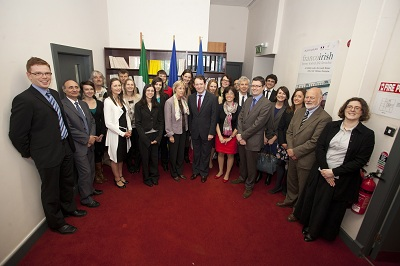 Group picture in the Cultural Offices of the Embassy of France in Ireland - JPEG