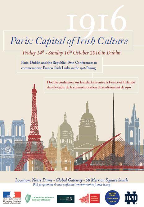 Conference Paris Capital Of Irish Culture