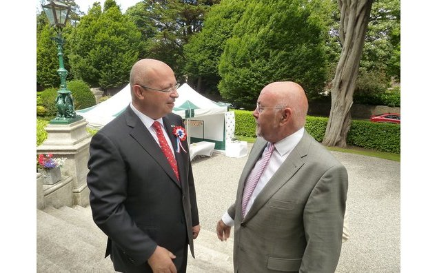 Minister for Education Ruairi Quinn and Ambassador Thebault