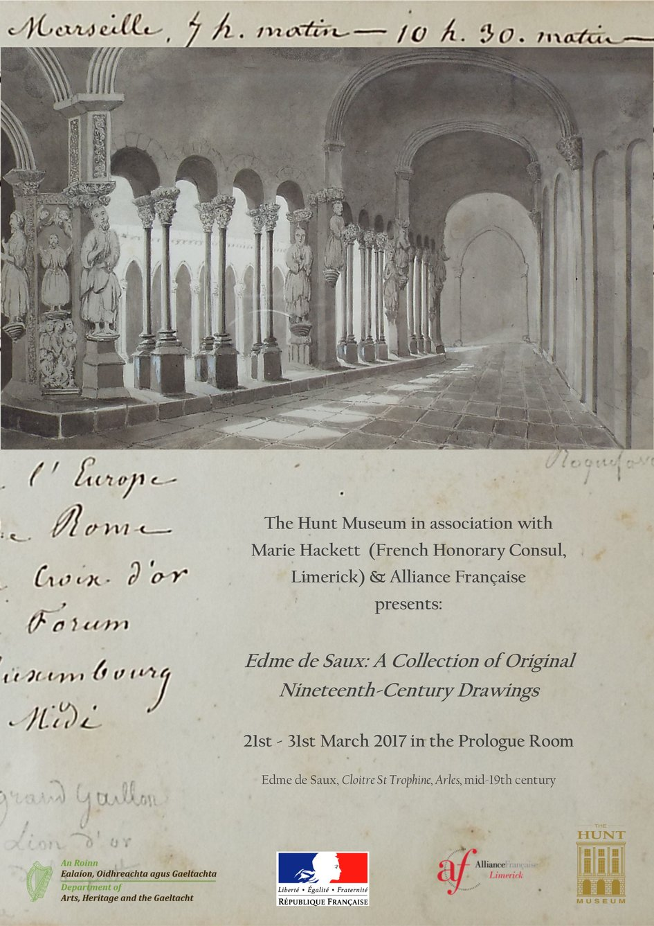 dce83a1a2d68 Exhibition] A collection of 19th Century Drawings in Limerick ...